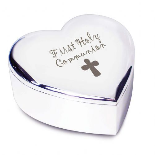 Personalised 1st Holy Communion Heart Trinket
